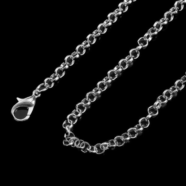 Halskette versilbert mit Verschluss 82 cm